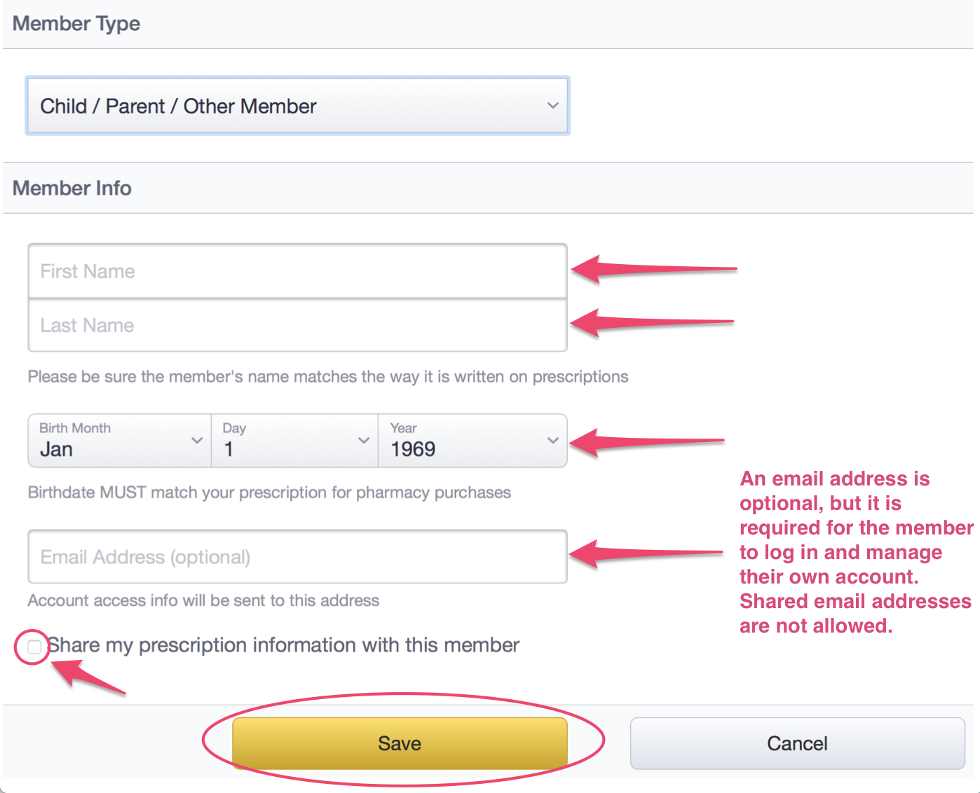 how to add family members to google account