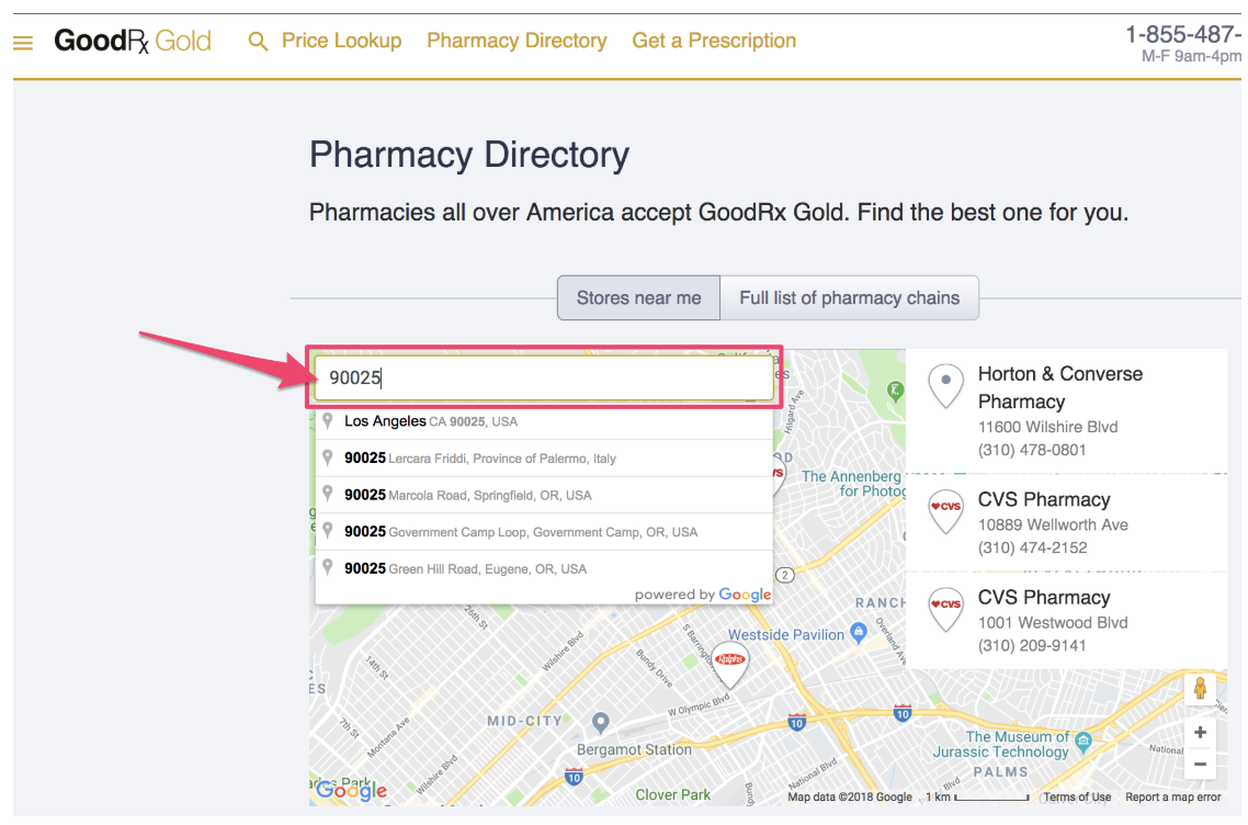 How do I find a Gold participating pharmacy in my area